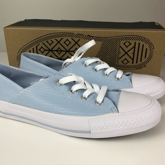 Converse CTAS Coral Ox Sneakers NIB Porpoise Blue NWT